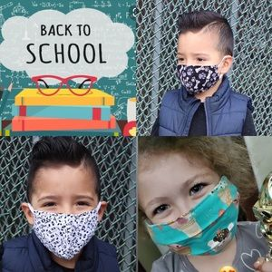 Other - 3 kids Cotton Face Masks handmade
